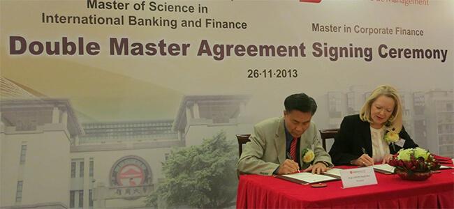 L'ESSCA signe un accord de double diplôme avec l'Université de Lingnan