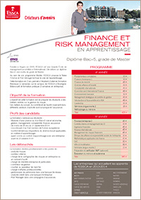 Programme en alternance ESSCA - Finance Risk Management