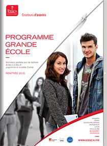 Plaquette du Programme Grande Ecole admission parallèle - ESSCA