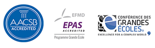 Logos ESSCA accréditation AACSB, CGE, EPAS