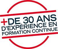 Logo plus de 30 ans d'expérience en Formation Continue