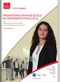 Programme Grande École ESSCA, admission parallèle