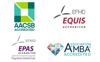 Logos accrédiations ESSCA -AACSB - EQUIS - EPAS - AMBA